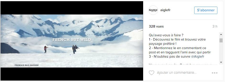 Grand jeu concours Instagram