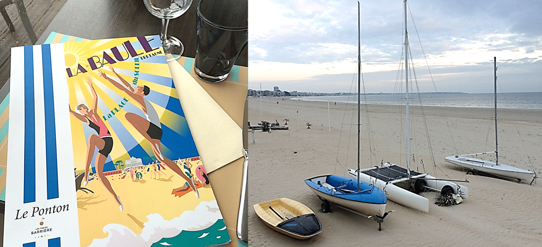 Restaurant de plage haut de gamme Le Ponton à La Baule