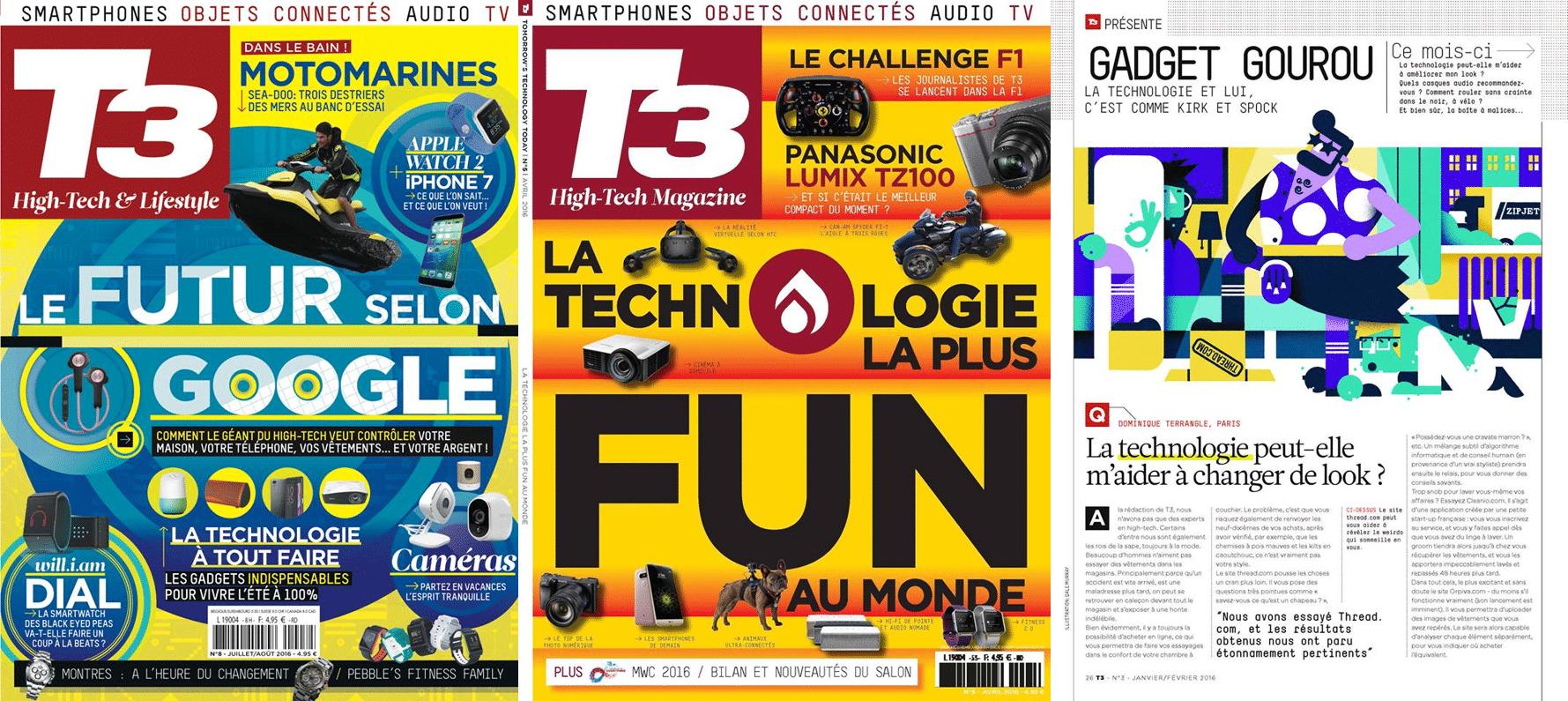 Digital et nouvelles technologies au cœur de chaque page de T3 Magazine