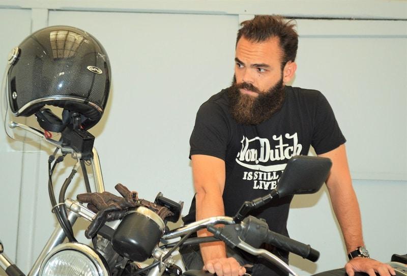 Barbus biker // Photo: L'HommeTendance.fr