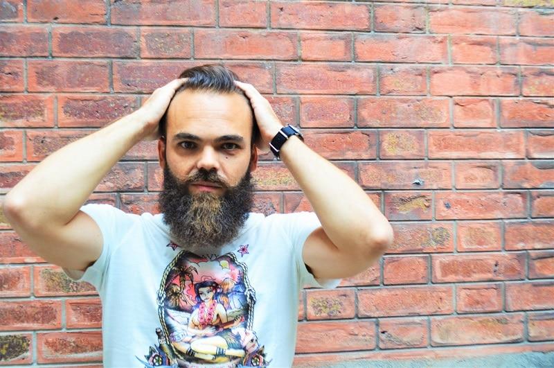 Photo de barbe, barbu hipster tendance