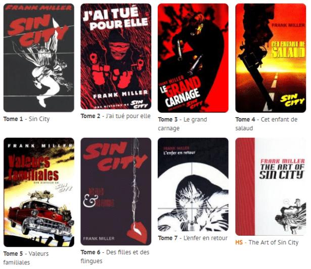 Sin City 7 tomes