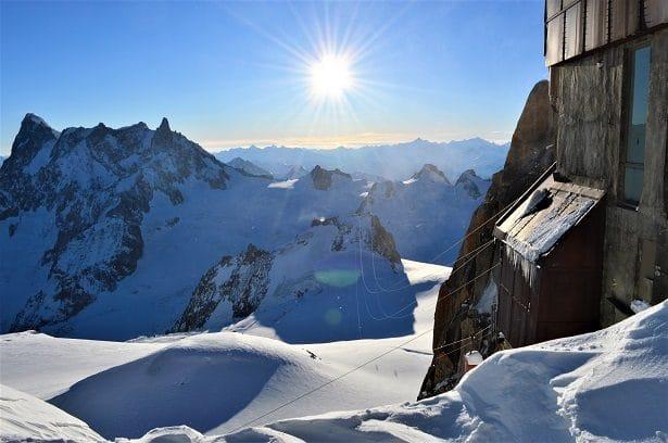 aiguille du midi à 3 842 mètres