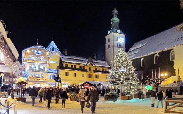 Place principale de Megève - que faire à Megève