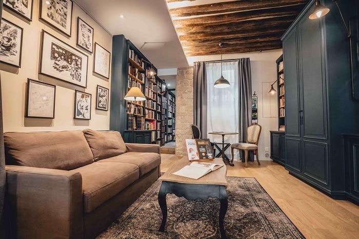 """Boutique Hôtel à Paris Marais """"La librairie du Marais"""""""
