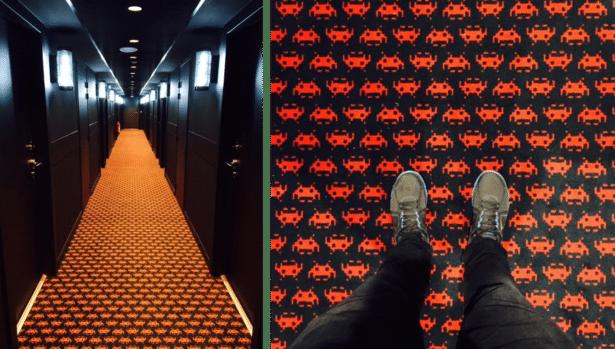 La moquette de Rocky Pop Hôtel Chamonix , les Houches
