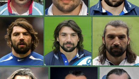 Sébastien Chabal avec et sans barbe: évolution au fil des années