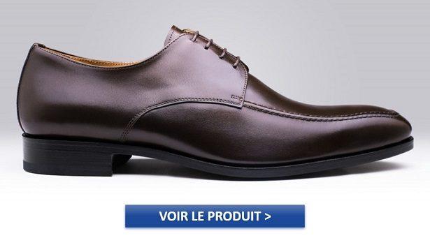 Chaussures Derby homme modèle PIEGARO MARRON à 109€
