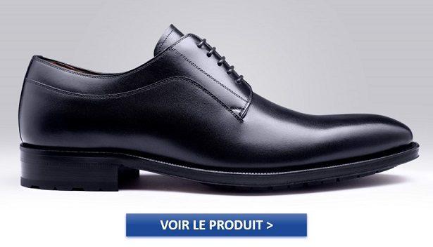 Chaussures Derby noires pour homme