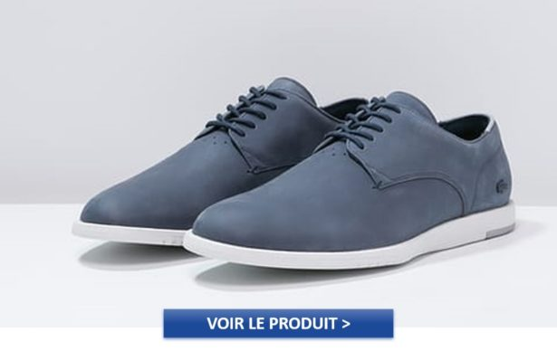 Derbies Lacoste bleues navy