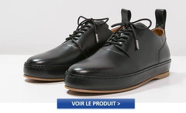 Derbies homme ZIGN STUDIO en cuir noir à 170€
