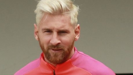 Lionel Messi blond et barbu