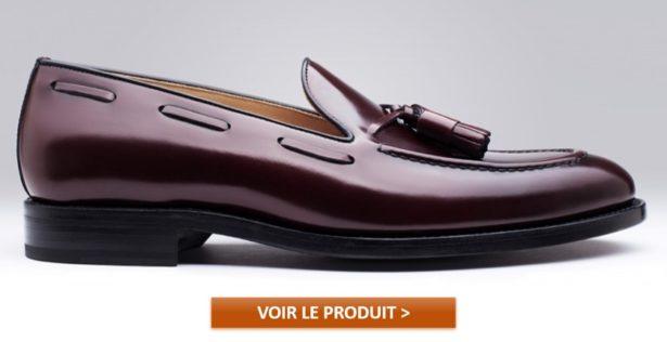 Mocassins pour homme Finsbury modèle ALDEN BORDEAUX LISSE à 169€
