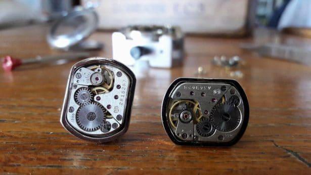 Dec'horloge boutons de manchettes rectangles