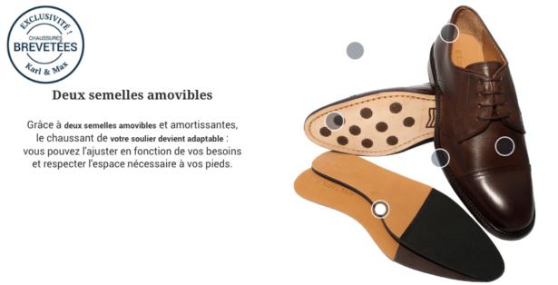 Karl&Max - des semelles amovibles