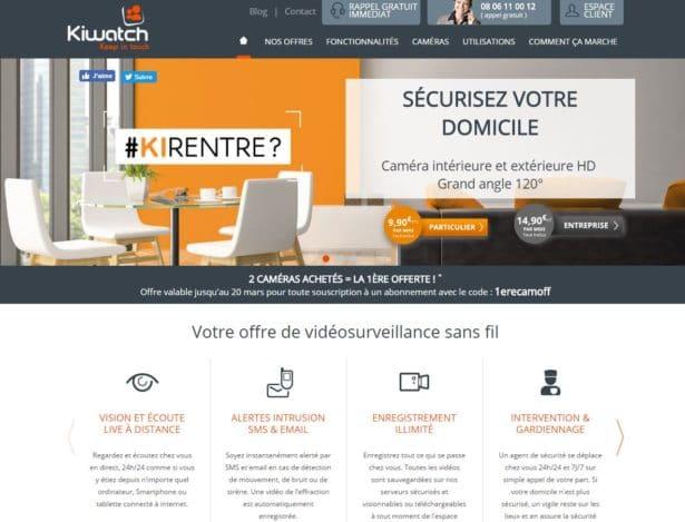 Kiwatch: Système vidéo surveillance IP, alarme sans fil par internet