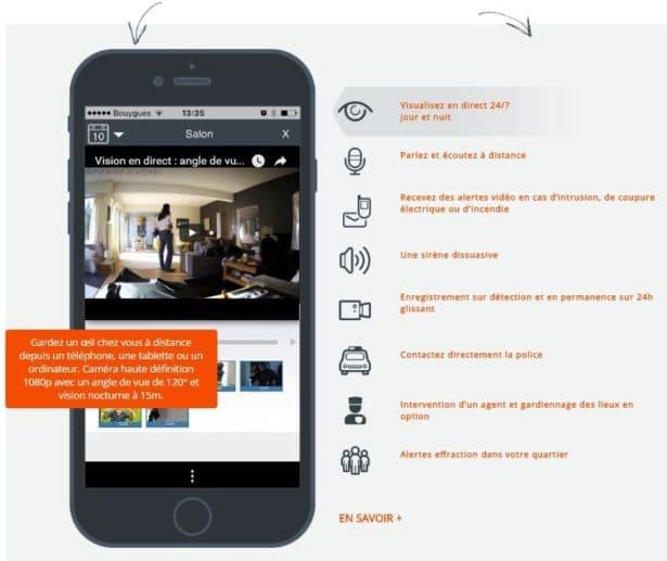 video surveillance depuis iphone