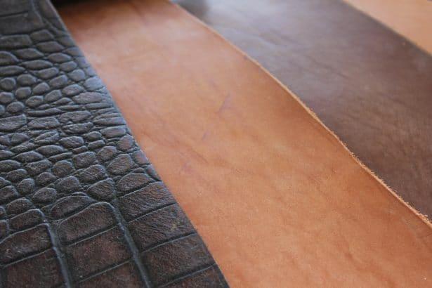 Peaux entières : cuir pleine fleur utilisé dans notre atelier