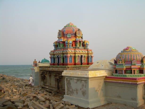 Temple sur la plage de Tranquebar