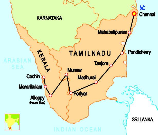 Où est le Tamil Nadu ?
