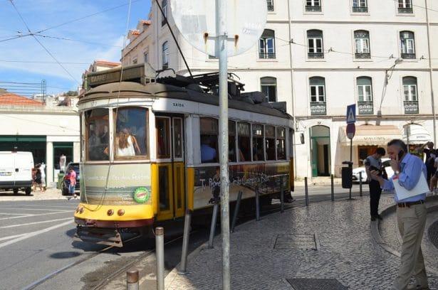 Le vieux tram de Lisbonne