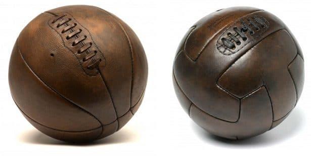 Ballon de basket ou de football vintage