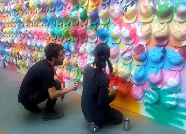 Les artistes Zosen & Mina en live lors de la soirée Desperados Sangré au Pavillon Puebla