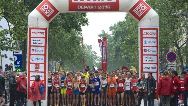 10Km l'Equipe Paris 2016 - 29/05/2016 – Paris – France – Les concurrents au départ