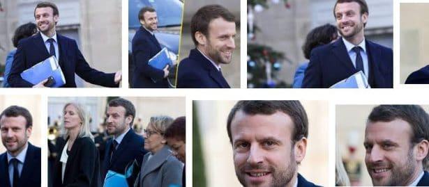 La barbe d'Emmanuel Macron