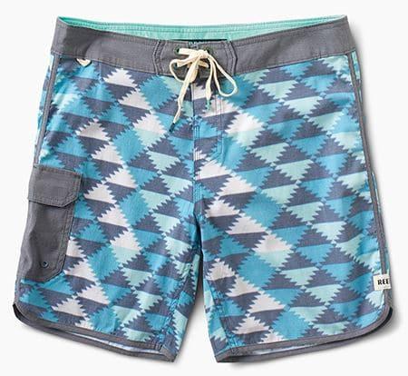 Reef maillot de bain homme avec motifs géométriques bleus et blancs