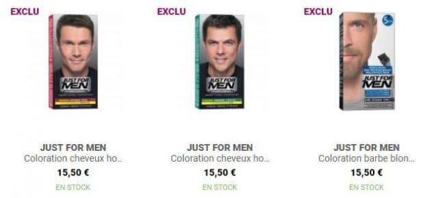 Produits Just For Men, marque n°1 pour la coloration des cheveux pour homme