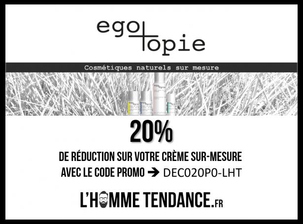 20% de réduction avec le code promo dédié L'Hommetendance.fr