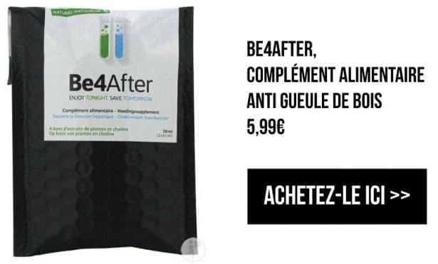 Be4After, complément alimentaire anti-gueule de bois - Festivals 10 incontournables