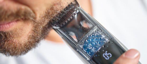 Tondeuse PHILIPS aspirateur de poils de barbe