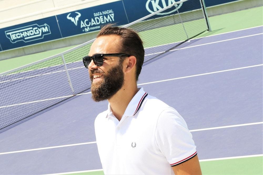 Shooting Fred Perry dans le temple du tennis Espagnol