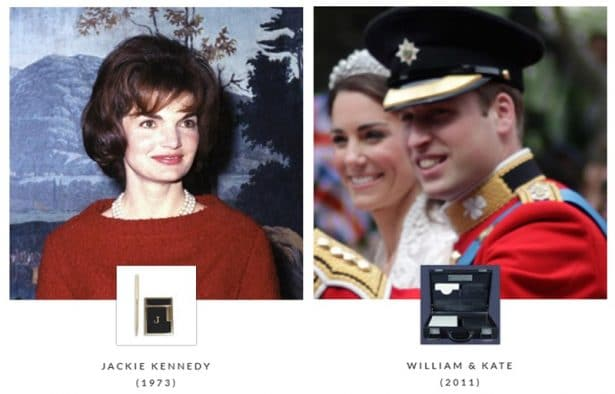 Jackie Kennedy et William & Kate - S.T Dupont