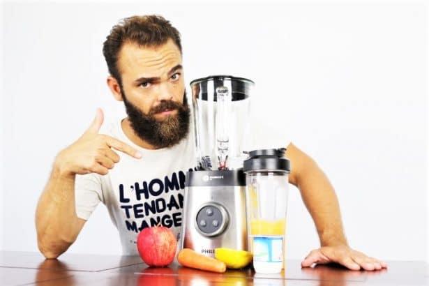 Test Blender Philips Mix&Go HR3655 par l'Homme Tendance