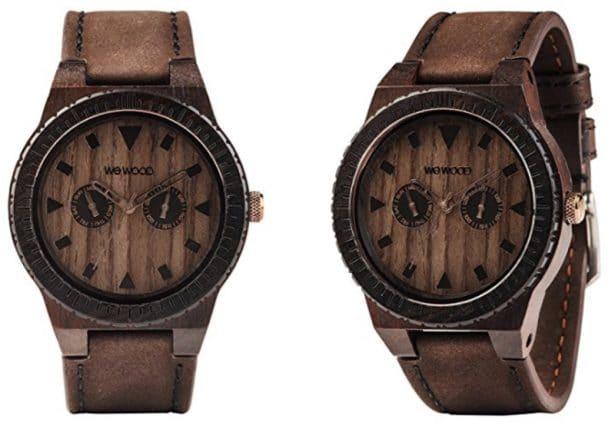 montre-bois-wewood-marron-cuir