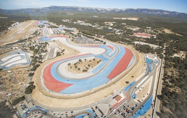 Circuit Paul Ricard vu du ciel pendant le Bol D'or 2017