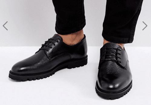 Zign - Chaussures en cuir avec semelle épaisse