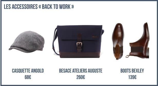 Les Accessoires élégants pour un Look Back To Work