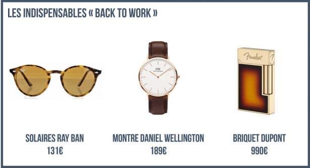 Les Indispensables pour un Look Back To Work