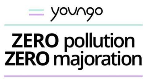 Youngo est la Startup française de VTC qui te transporte toute l'année sans polluer et sans majorations de prix grâce à 1 flotte 100% électrique. Course dès 7€