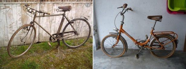 A la recherche de vieux vélos d'occasion - upcycling customisation vélo