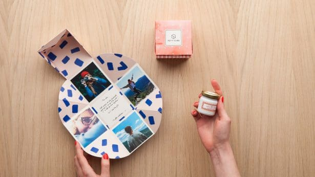 Personnalisation du Petit Cube avec des photos et des petits mots