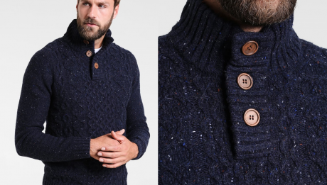 Pull col camionneur homme