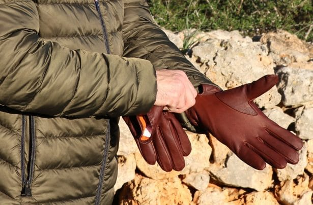 Gants Stetson homme 89€ cuir et doublure coton