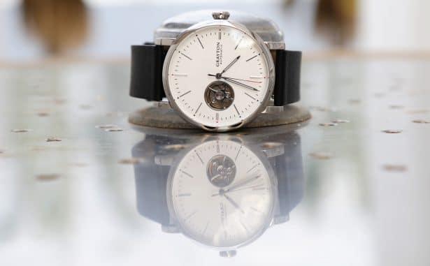 Montre automatique Grayton Minimaliste bracelet Verre minéral trempé traitement anti rayure