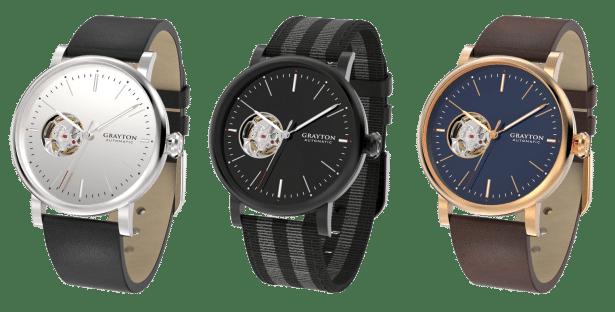 Nouvelle collection de montres automatiques GRAYTON