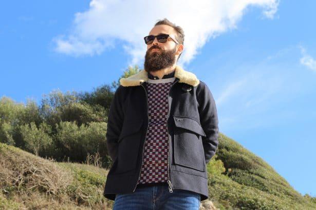 Pull en laine homme Montagut Collection Capsule en partenariat avec la créatrice de mode Elise Chalmin